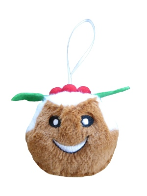 Animate Squeaky Bauble Christmas Pudding 3.5""