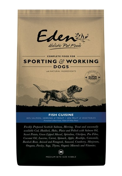 Eden 80/20 Fish Cuisine Working and Sporting Dog Medium Kibble 15kg