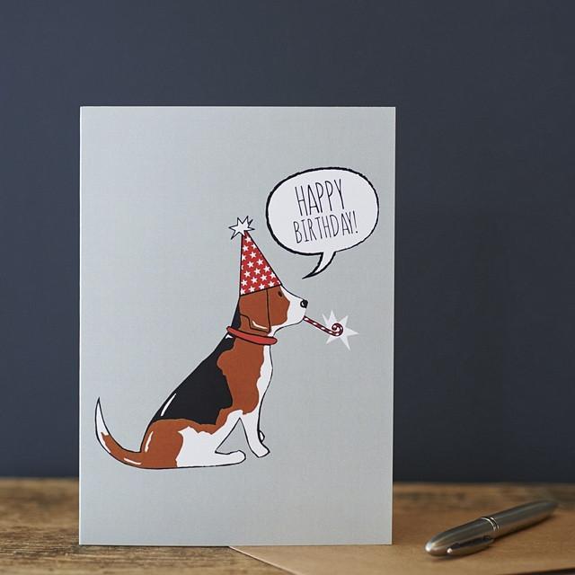 Sweet William Beagle Birthday Card