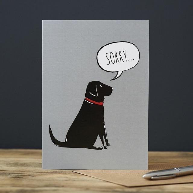 Sweet William Black Labrador Sorry Card