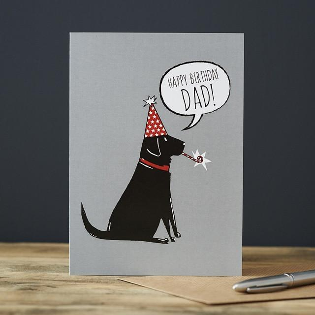 Sweet William Black Labrador Dad Birthday Card