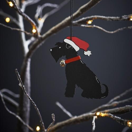 Sweet William Black Schnauzer Christmas Decoration