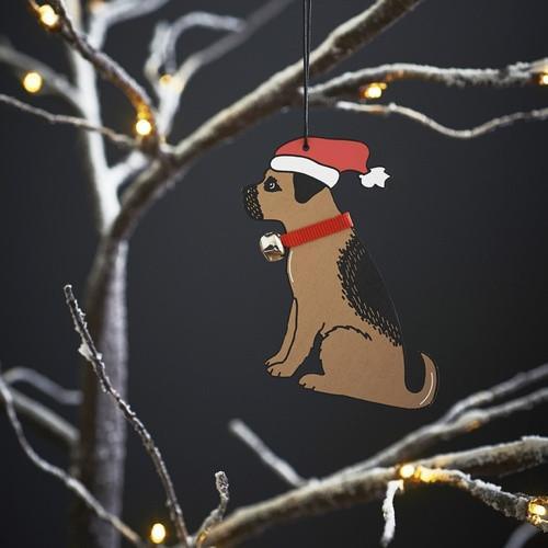 Sweet William Border Terrier Christmas Decoration
