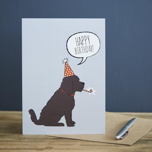 Sweet William Cockapoo Birthday Card