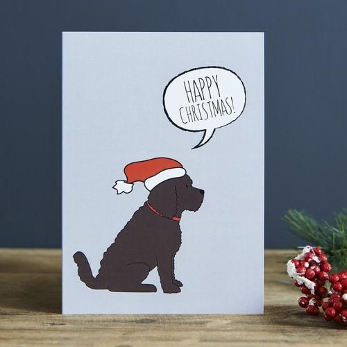 Sweet William Cockapoo Christmas Card