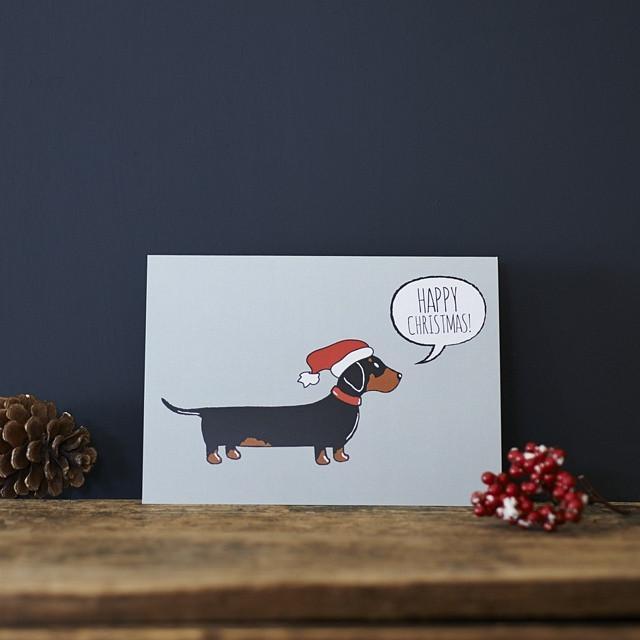 Sweet William Dachshund Christmas Card