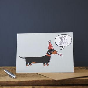 Sweet William Dachshund Birthday Card