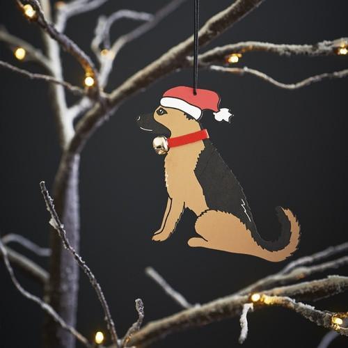 Sweet William German Shepherd Christmas Decoration