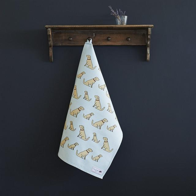Sweet William Golden Retriever Tea Towel