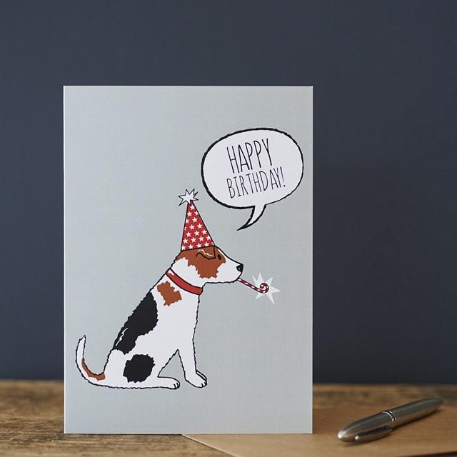 Sweet William Jack Russell Birthday Card