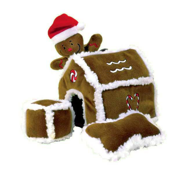 Outward Hound Hide A Toy Gingerbread House Plush Toy