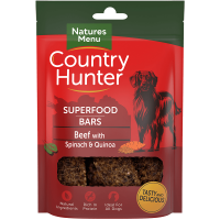 Natures Menu Country Hunter Superfood Bars Beef With Spinach and Quinoa