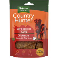 Natures Menu Country Hunter Superfood Bars Chicken With Coconut and Chia Seeds