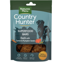 Natures Menu Country Hunter Superfood Bars Duck With Carrot and Pumpkin Seeds