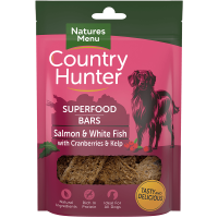 Natures Menu Country Hunter Superfood Bars Salmon and White Fish With Cranberries and Kelp