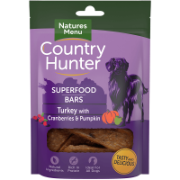 Natures Menu Country Hunter Superfood Bars Turkey With Cranberries and Pumpkin