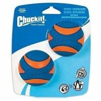 Chuckit Ultra Squeaker Ball Medium Twin Pack