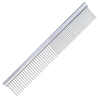 Groom Professional Chrome Fine/Coarse Comb 19cm
