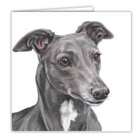 WaggyDogz Greyhound Greetings Card