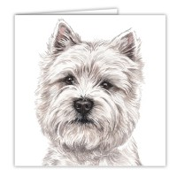 WaggyDogz West Highland Terrier Greetings Card