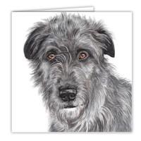 WaggyDogz Irish Wolfhound Greetings Card