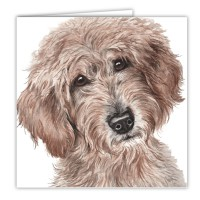 WaggyDogz Labradoodle Greetings Card