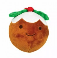 Happy Pet Holly and Robin Christmas Pudding Squeaker Ball