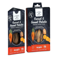 Go Native Carrot and Sweet Potato Dental Super Sticks 150g