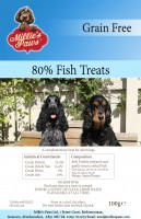 Millie's Paws Grain Free 80% Fish Treats 100g