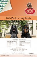 Millie's Paws Naturals 80% Poultry Treats 500g