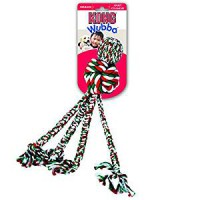KONG Holiday Wubba Weave with Rope