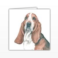 WaggyDogz Basset Hound Greetings Card