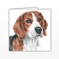 WaggyDogz Beagle Greetings Card