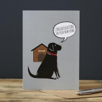 Sweet William Black Labrador New Home Card