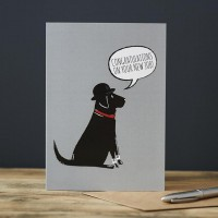 Sweet William Black Labrador New Job Card