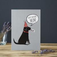Sweet William Black Labrador Mum Birthday Card