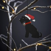 Sweet William Black Schnauzer Christmas Decoration