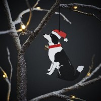 Sweet William Border Collie Christmas Decoration