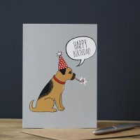 Sweet William Border Terrier Birthday Card