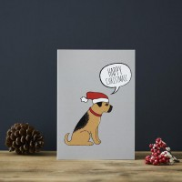 Sweet William Border Terrier Christmas Card