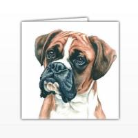 WaggyDogz Boxer Greetings Card