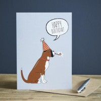 Sweet William Boxer Birthday Card