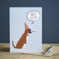 Sweet William Boxer Birthday Card