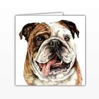 WaggyDogz British Bulldog Greetings Card
