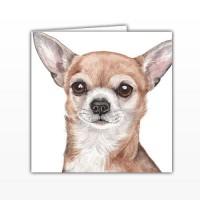 WaggyDogz Chihuahua Greetings Card
