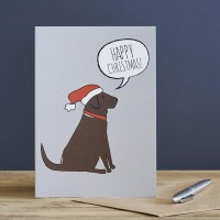 Sweet William Chocolate Labrador Christmas Card