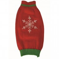 Happy Pet Cosy Christmas Knit Snowflake Sweater 16""