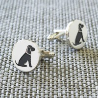 Sweet William Silver Plated Cocker Spaniel Cufflinks