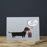 Sweet William Dachshund Father's Day Card