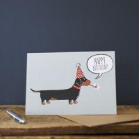 Sweet William Dachshund Birthday Card